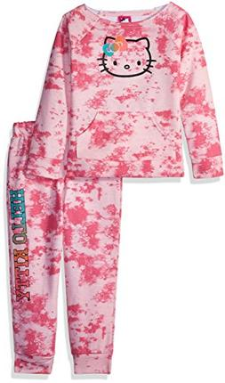 Hello Kitty Little Girls' Jogger Pant Set with Crew Neck Top