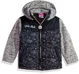Hello Kitty Little Girls' Printed Puffer Jacket with Sweater