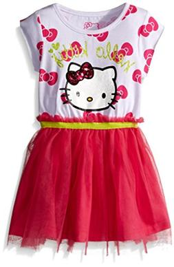 Hello Kitty Little Girls' Toddler Tutu Dress, Fuchsia Purple