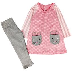 Jastore Kids Girl Cute 2PCS Striped Clothing Set Long Sleeve