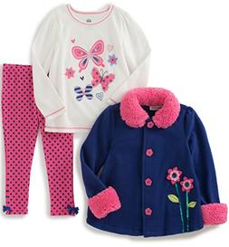 Kids Headquarters Baby 3 Pieces Sherpa Jacket with Matching