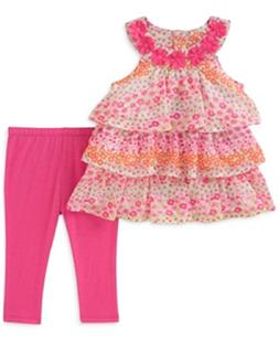 af1cbd9fe99 Kids Headquarters Baby Girls 2-Pc. Tiered Ruffle Tunic & Leg