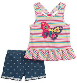 Kids Headquarters Baby Girls 2 Pieces Shorts Set, Assorted,