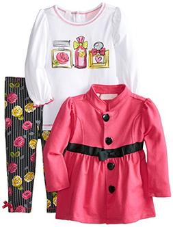 Kids Headquarters Baby Girls' Jacket with White Tee and Flow