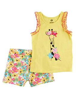 Kids Headquarters Infant Girls Set Giraffe Shirt & Floral Sh