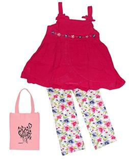 Kids Headquarters Little Girl's Tunic with Bows & Floral Cap