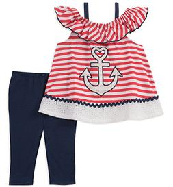 5be9e2f213a Kids Headquarters Toddler Girls' Tunic Set-Sleeveless, Red/W