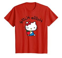 Kids Hello Kitty Retro Logo Tee Shirt 12 Red