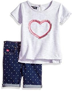 Limited Too Little Girls' Fashion Top and Pant Set, Printed