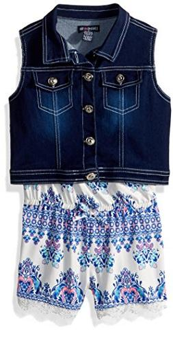 Limited Too Little Girls' Vest and Bodysuit Set, Tie Strap S