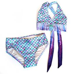 Mermaid Bikini Set, Aurora Borealis, Child Small 4T/5T