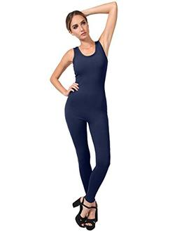 NE PEOPLE Women's Round Neck Sleeveless Sexy Fitted Jumpsuit