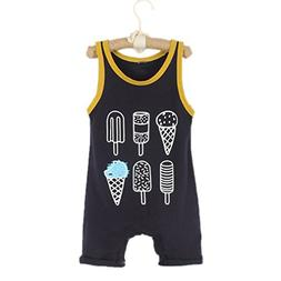 New Baby Clothing Sleeveless Rompers Newborn Toddler Infant