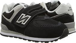 New Balance Boys' 574v1 Essentials Hook and Loop Sneaker, Bl