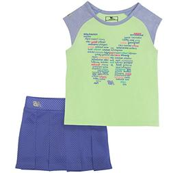 New Balance Kids Toddler Girls' Athletic Tee and Skort Set,