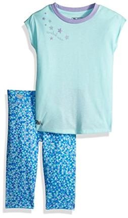 New Balance Kids Toddler Girls' Short Sleeve Top and Capri S
