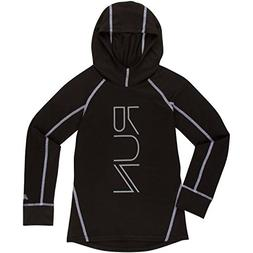 New Balance Little Girls' Athletic Hooded Pullover Top, Blac