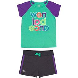 New Balance Baby Girls' Performance Tee and Short Sets, Jade