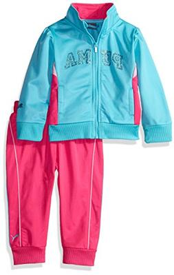 PUMA Baby Girls 2 Piece Track Jacket and Pant Set, Faster Bl