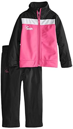 PUMA Baby Girls' Jacket and Pant Tricot Set Black, 18 Months