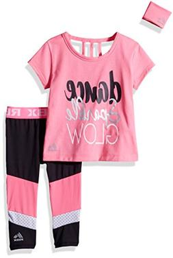RBX Toddler Girls' 3pc Performance Top, Legging and Wristban