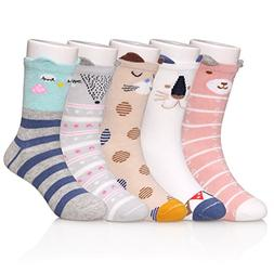 SDBING Children's Cartoon Novelty Socks Cotton Cute 3D Anima