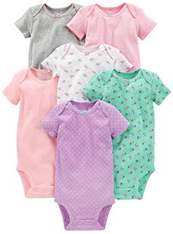 Simple Joys by Carter's Baby Girls 6-Pack Short-Sleeve Bodys