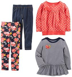 Simple Joys by Carter's Toddler Girls 4-Piece Playwear Set,
