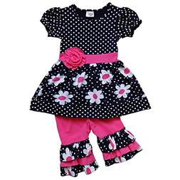 So Sydney Girls Toddler 2-4 Pc Novelty Spring Summer Top Cap