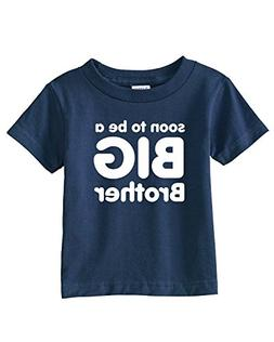 Soon to be a BIG BROTHER Infant/Toddler Tee~Navy Blue~Toddle
