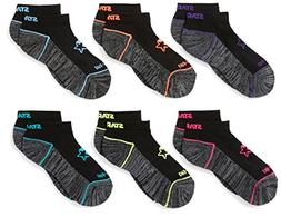 Starter Girls' 6-Pack Athletic Low-Cut Ankle Socks, Prime Ex