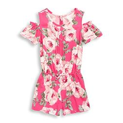 The Children's Place Baby Girls Flower Lace Romper, Sweet Pr