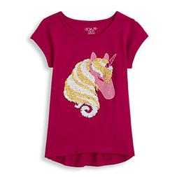 The Children's Place Big Girls' Flip Sequence Short Sleeve G