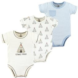 Touched by Nature Baby Organic Cotton Bodysuits, Teepee 3 Pa
