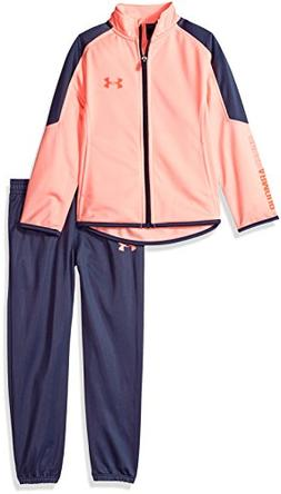 Under Armour Girls' Little Zip Up Jacket and Pant Set, Cape