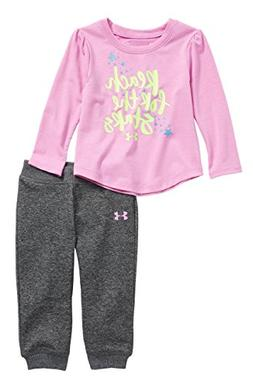 Under Armour Girls' Tee and Leggings 2 Piece Set /Sparkle Bl