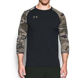 Under Armour  Men's Hunt Baseball Tee Black/Bayou Shirt