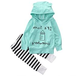 Unisex Baby Clothes Outfit Birthday Outwear Hood Tops Casual