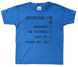 "Unisex-Child 4-20 ""My Granddad Is All The Above"" Youth T-Shi"