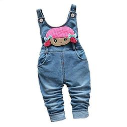 WAYNE FINKELSTEIN Little Girls Cute Cartoon Imitation Denim