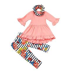 Audrey Hepburn style toddler girl dress set with headband and bow tie shirt