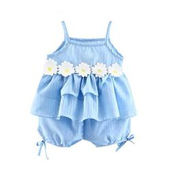 Willsa Toddler Baby Girls Lace Flowers Sleeveless Camisole R