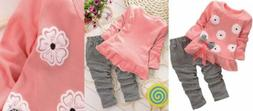BomDeals Adorable Cute Toddler Baby Girl Clothing 2pcs Age,