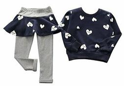BomDeals Adorable Cute Toddler Baby Girls Clothes SetLong Sl