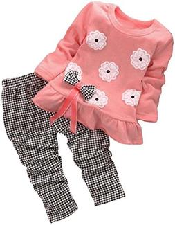BomDeals Adorable Cute Toddler Baby Girl Clothing 2pcs Top&p