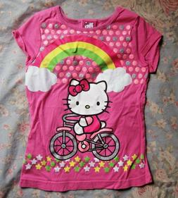 Adorable pink glitter hello kitty girls t-shirt size 6