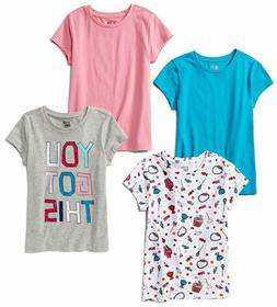 Amazon Brand - Spotted Zebra Girls' Toddler  Kid 4-Pack Shor