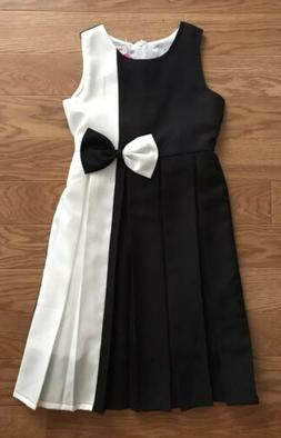 Amazon Sunny Fashion NWT Girls Black White Dress Size 14