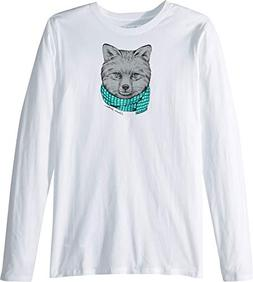 Columbia Kids Girl's Animal Antics¿ Long Sleeve Shirt  Whit