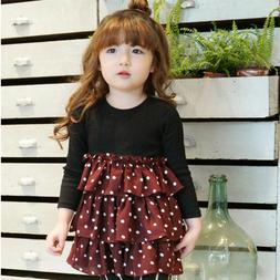 Autumn Fashion Girl Long sleeve Dress Kids Fall Clothes Chil